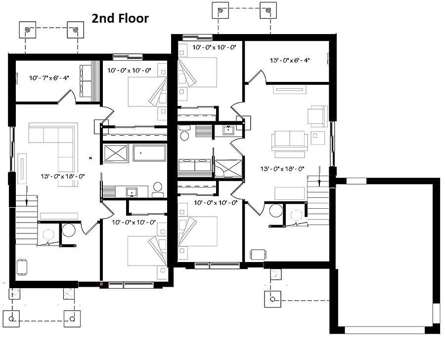 2nd Floor Plan image of Paris House Plan