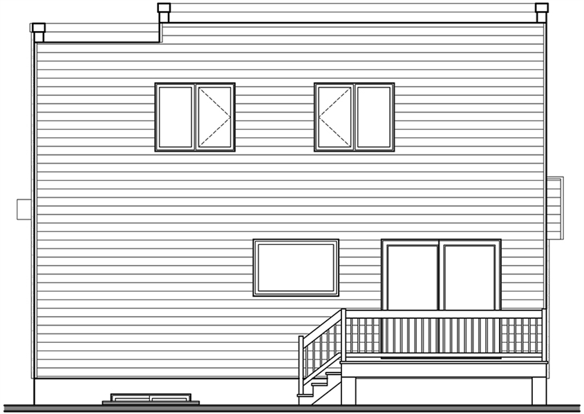 Rear view image of Lavoisier House Plan