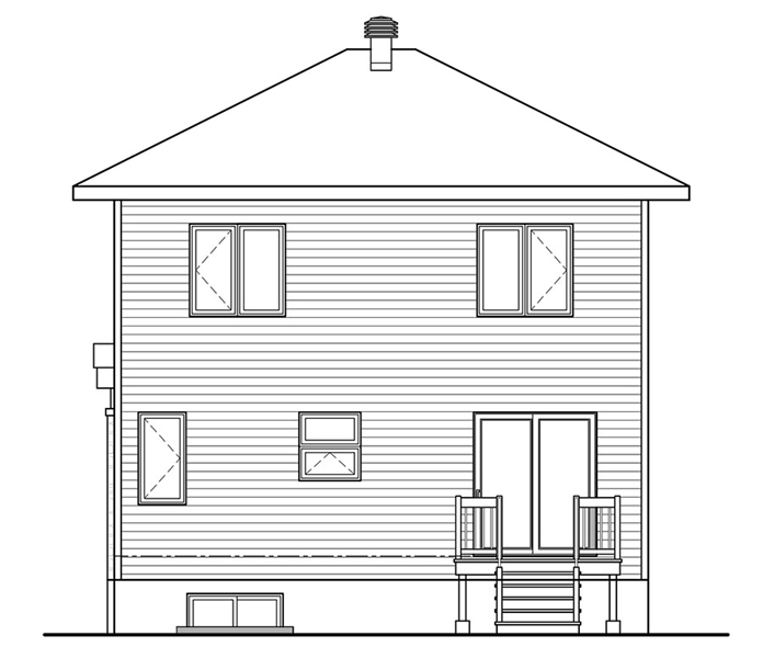 Rear Photo image of Levis House Plan
