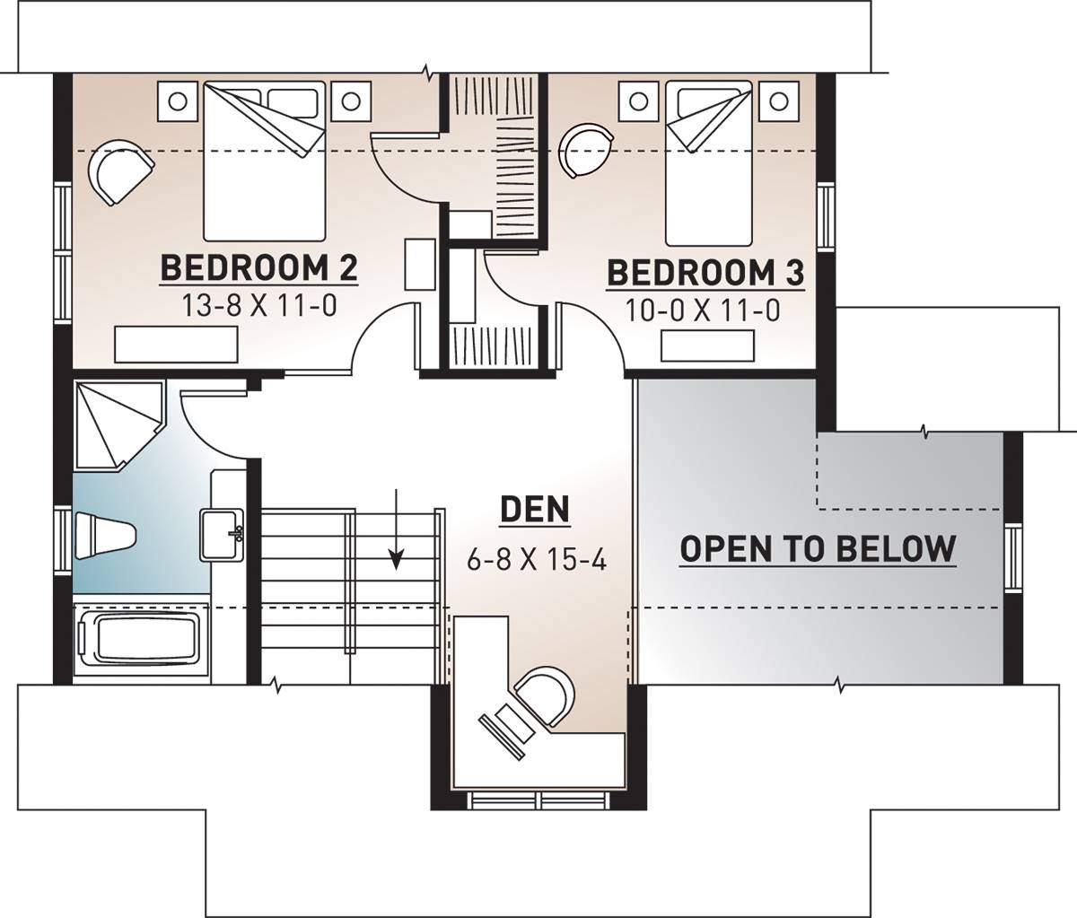 2nd Floor Plan image of Bayview House Plan