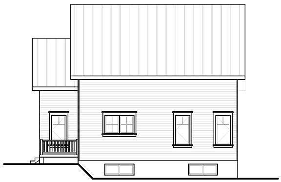 Rear view image of Bayview House Plan