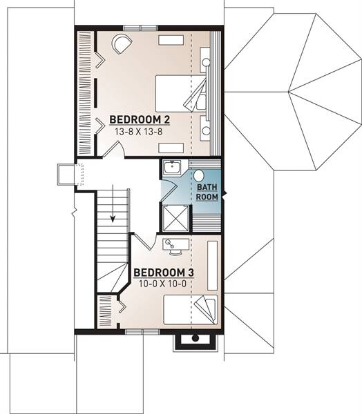 2nd Floor Plan image of Cape Pelican 2 House Plan