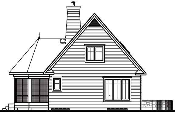 Rear view image of Cape Pelican 2 House Plan
