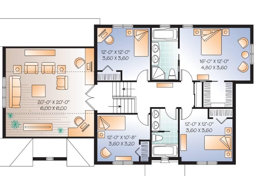 1st Floor Plan image of Gloria House Plan