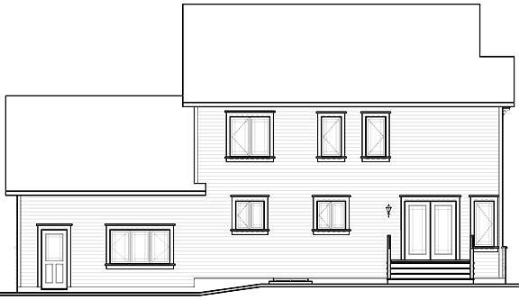 Rear view image of Gloria House Plan