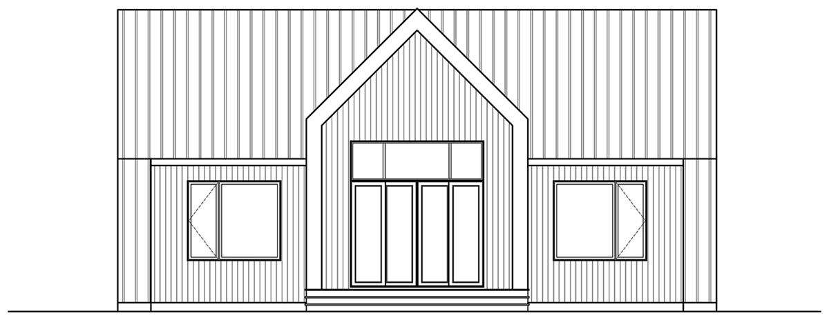 Rear image of Tahoe House Plan