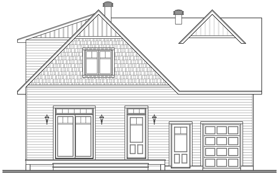 Rear image of Augusta 2 House Plan
