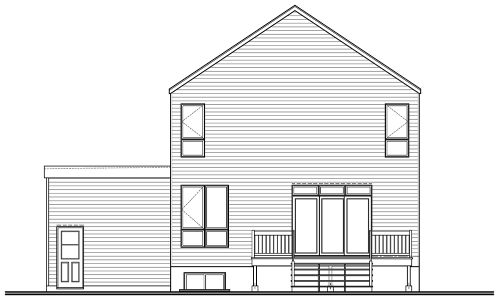 Rear image of Sequoia 3 House Plan