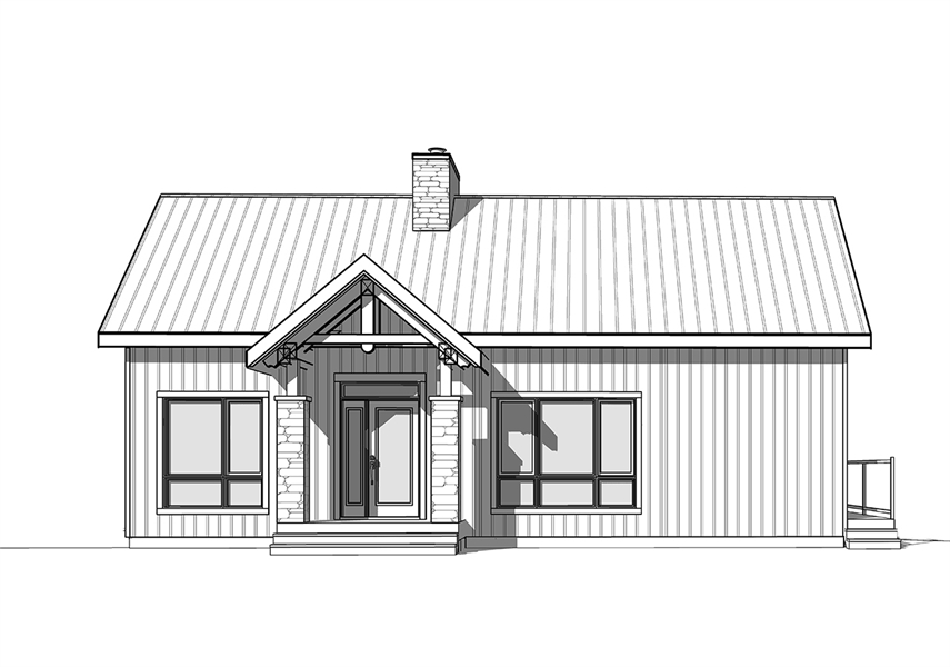 Front image of Olypme 4 House Plan