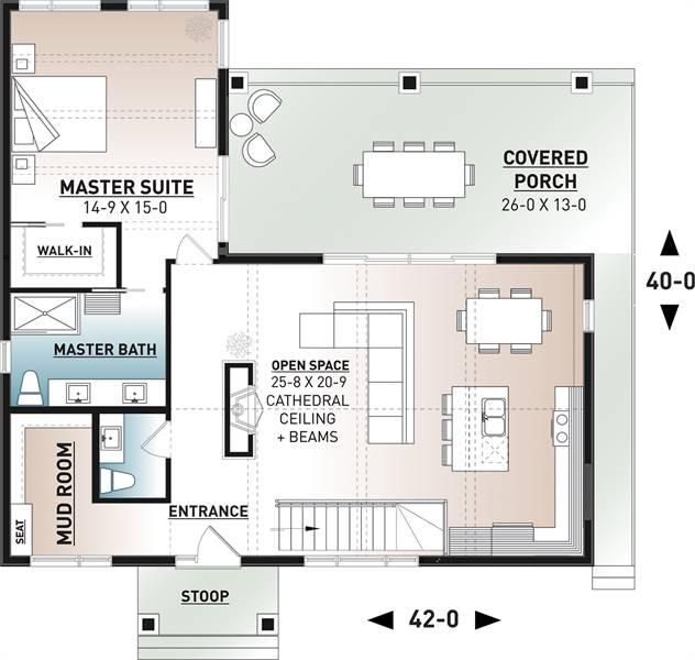 1st Floor Plan image of Olypme 4 House Plan
