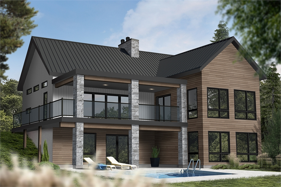 Rear image of Olypme 4 House Plan