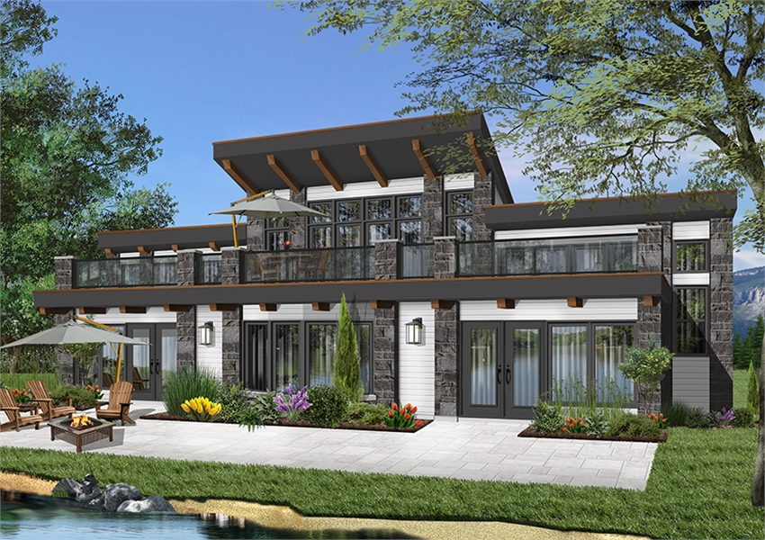 Front image of Odessa House Plan