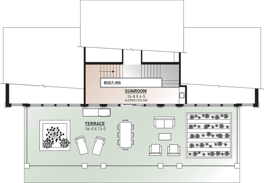 2nd Floor Plan image of Odessa House Plan