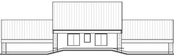 Rear Photo image of Odessa House Plan