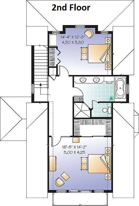 2nd Floor Plan image of Evergreene House Plan