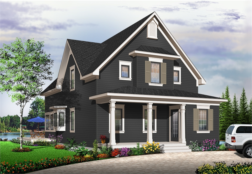 Front image of Evergreene House Plan