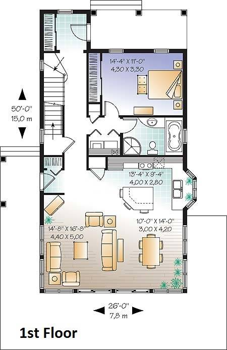 1st Floor Plan image of Evergreene House Plan