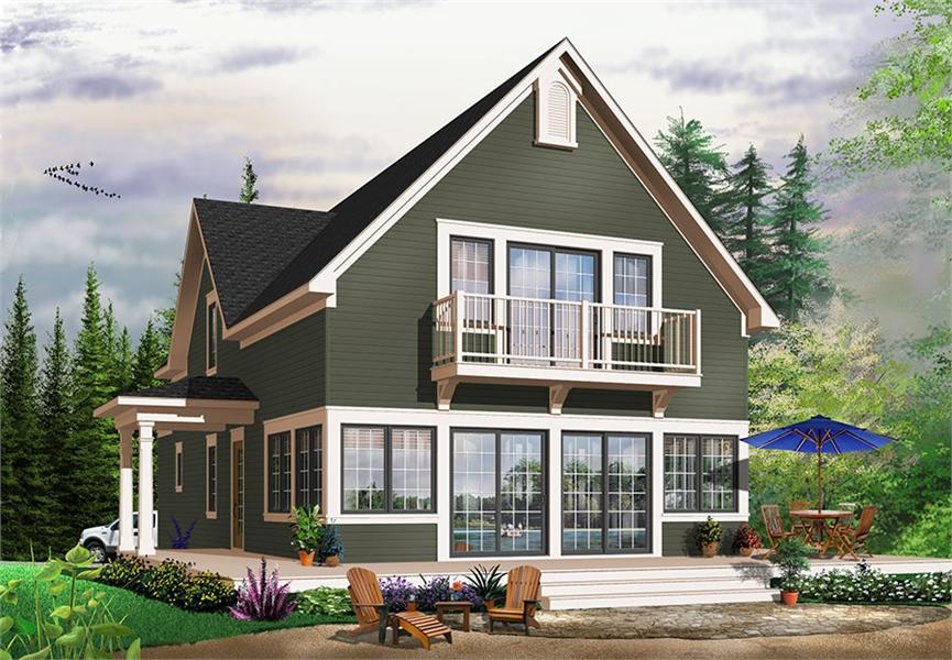 Rear Photo image of Evergreene House Plan