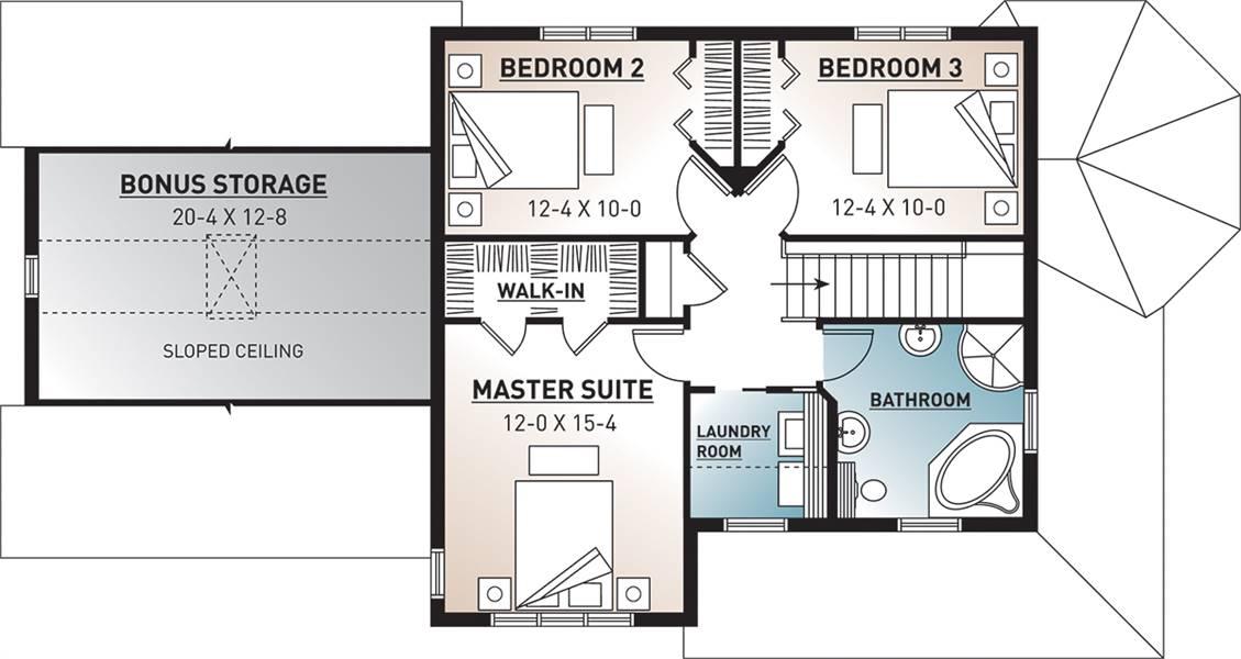 2nd Floor Plan image of 3861 House Plan