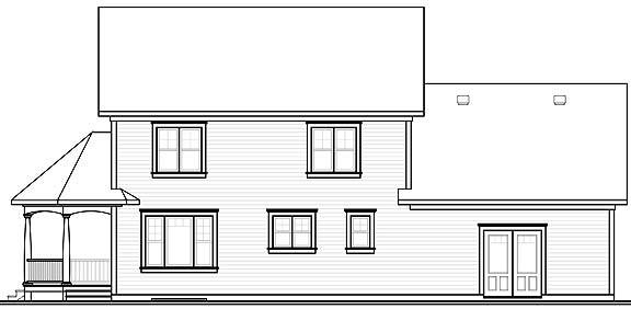 Rear Photo image of 3861 House Plan