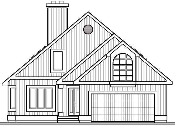 Rear Photo image of Grandmont House Plan