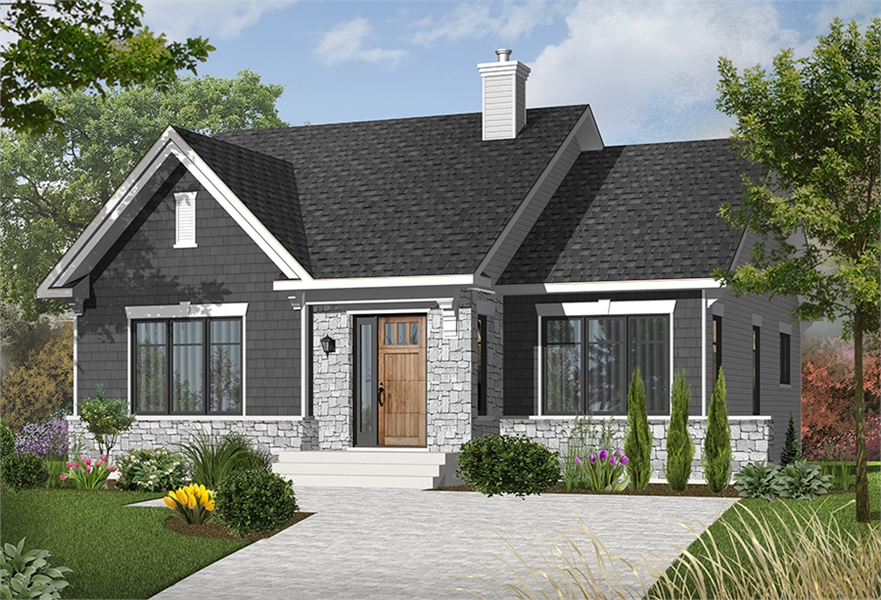 Front image of Rosewood House Plan