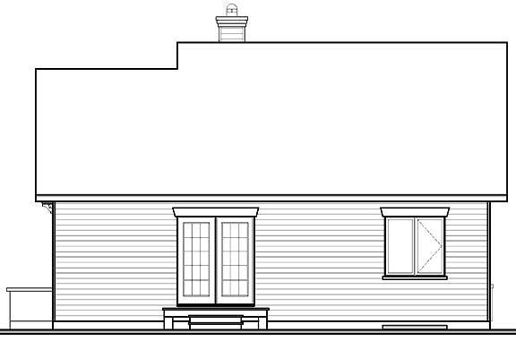 Rear Elevation image of Rosewood House Plan