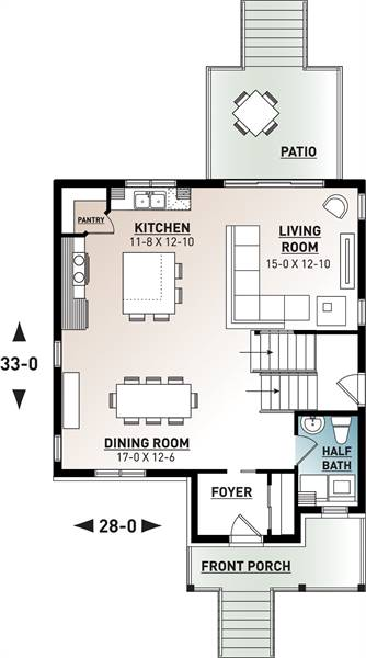 1st Floor Plan image of Kinkade House Plan