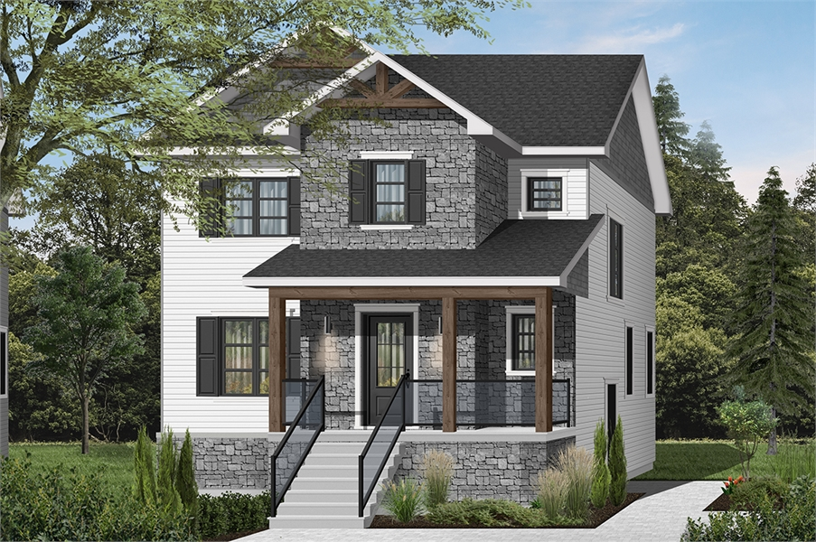 Front image of Kinkade House Plan