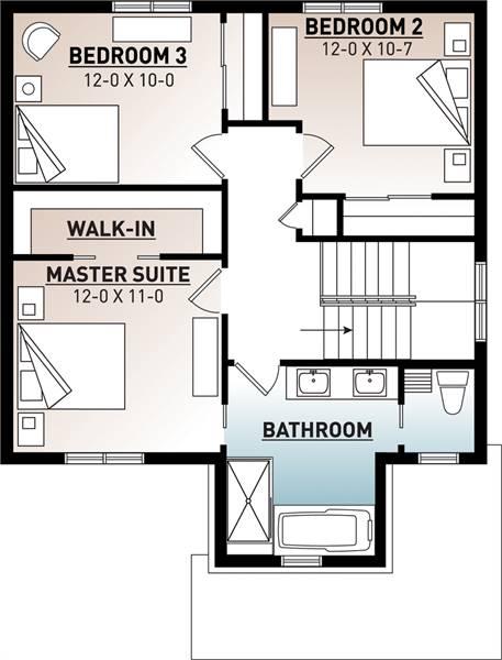 2nd Floor Plan image of Kinkade House Plan