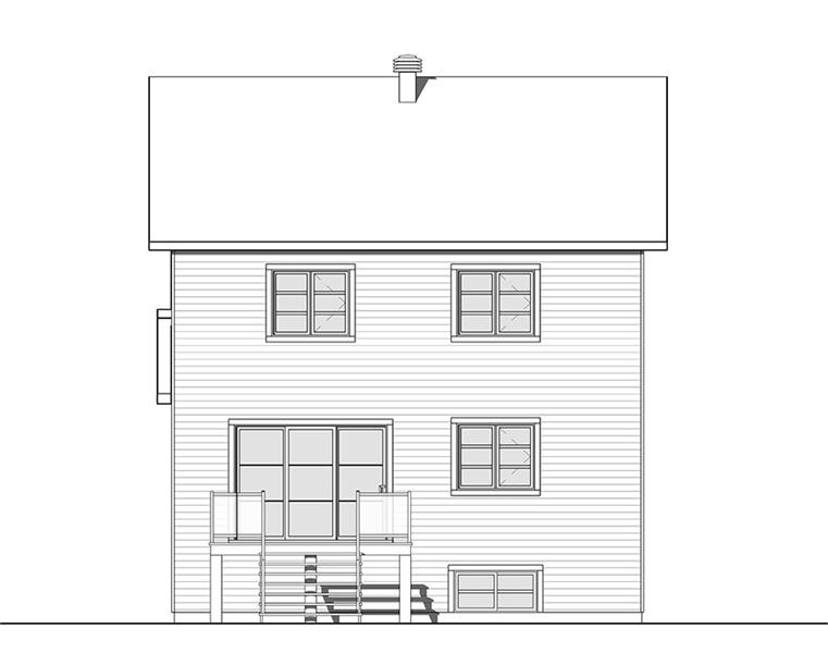 Rear view image of Kinkade House Plan