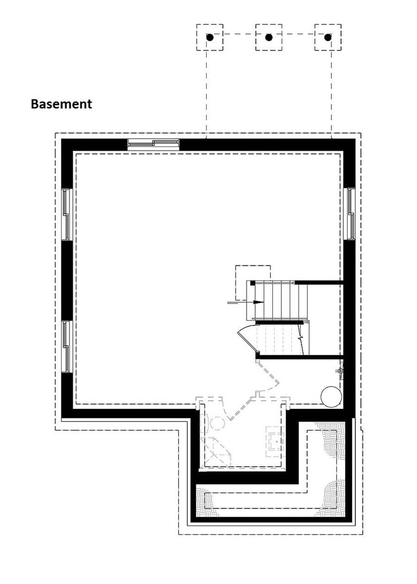 Basement image of Kinkade House Plan