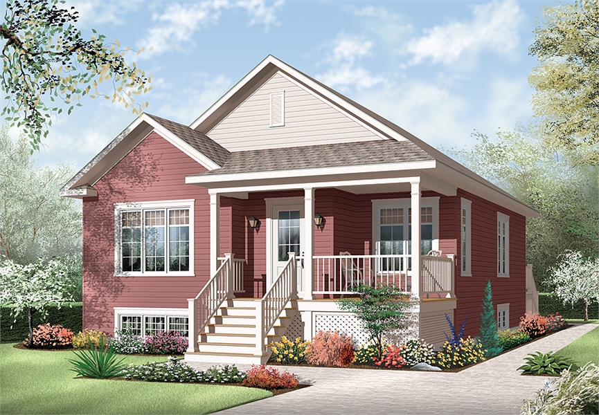 Front image of Larkspur House Plan