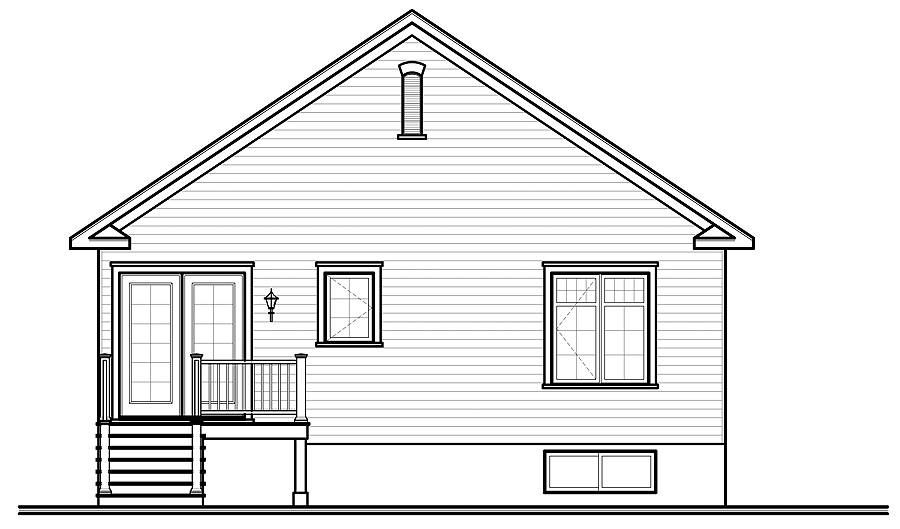 Rear view image of Larkspur House Plan