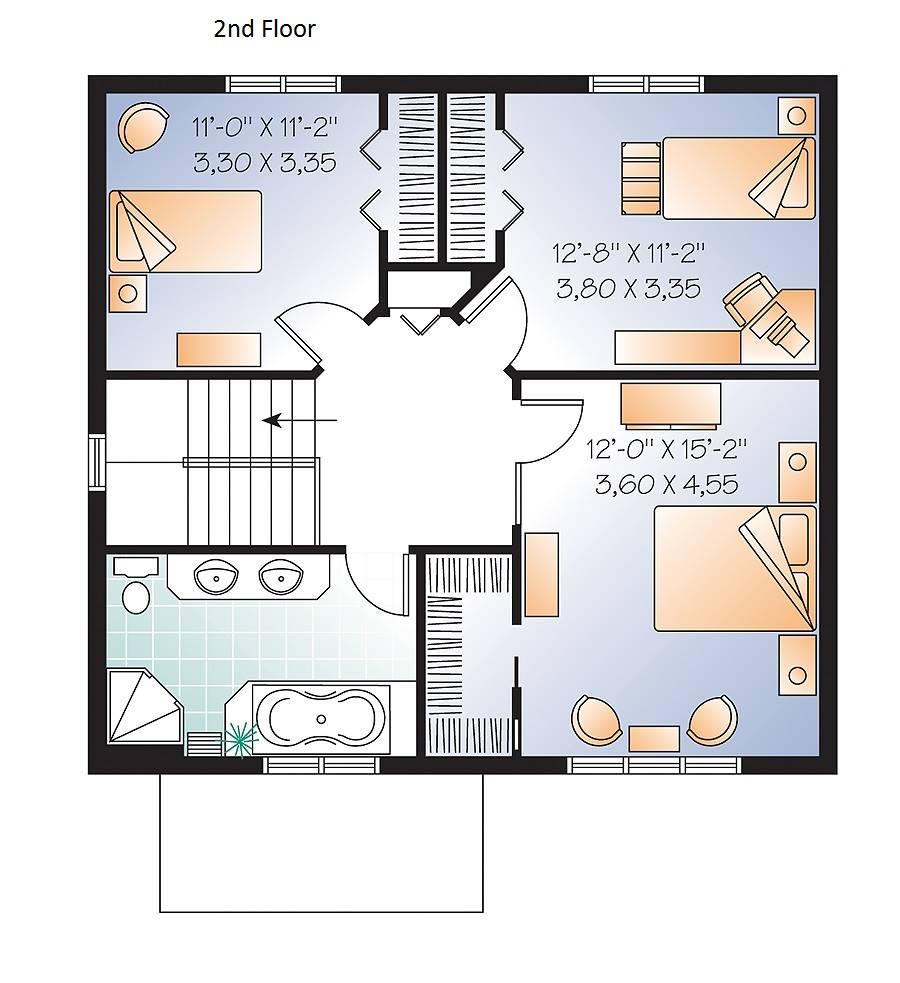 2nd Floor Plan image of Marlowe House Plan