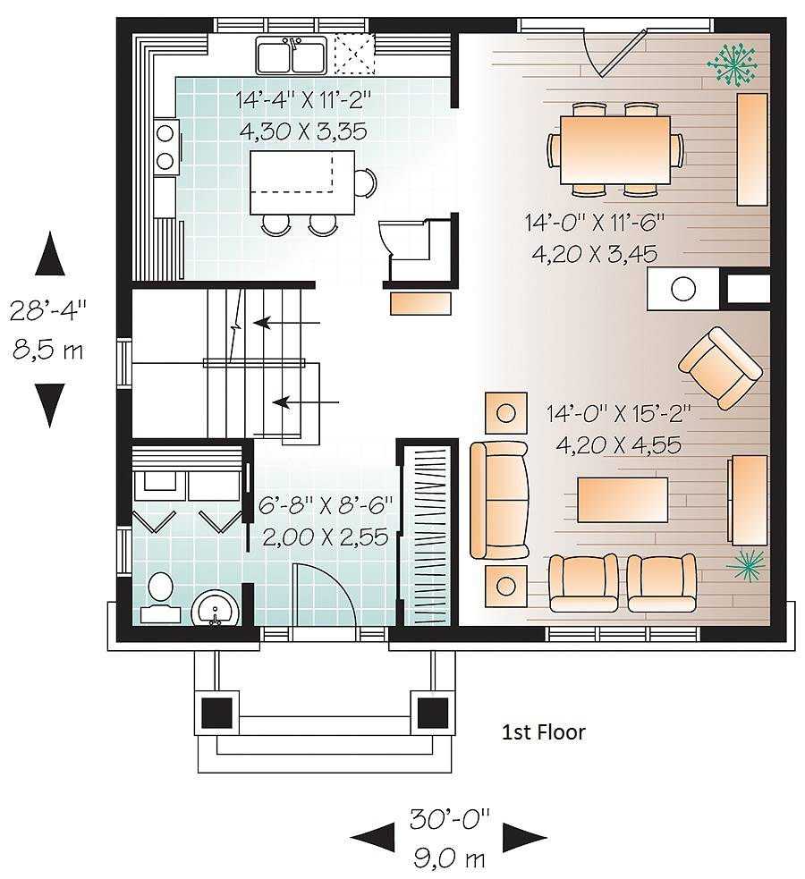 1st Floor Plan image of Marlowe House Plan