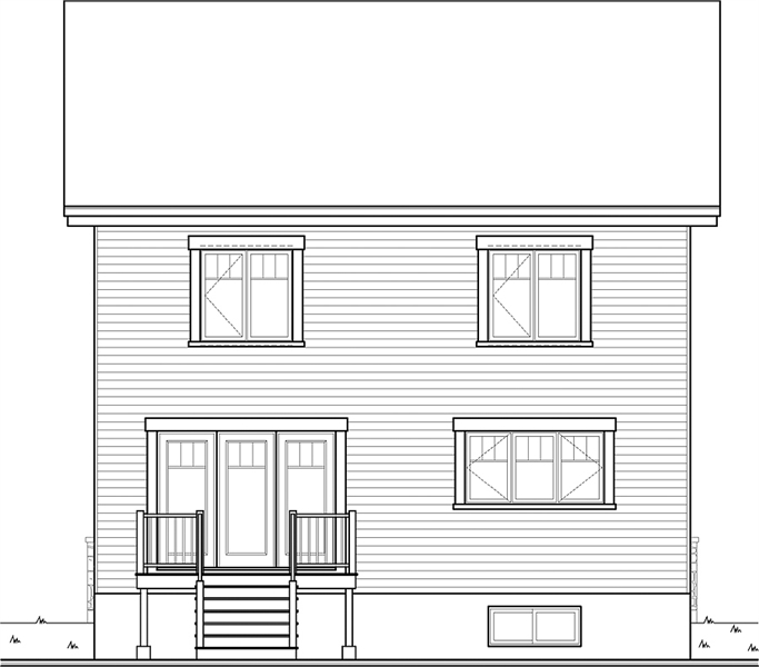 Rear view image of Marlowe House Plan