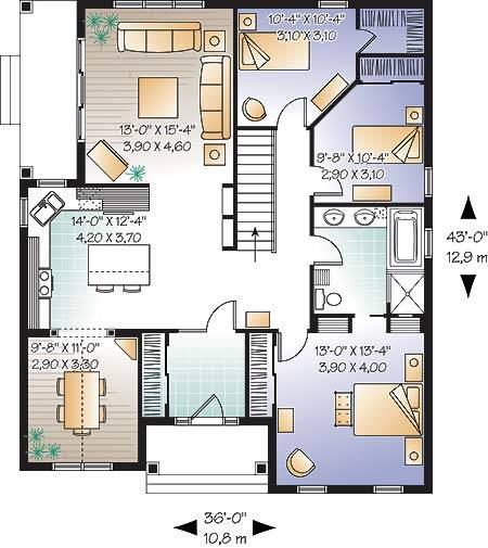 1st Floor Plan image of Jackson House Plan