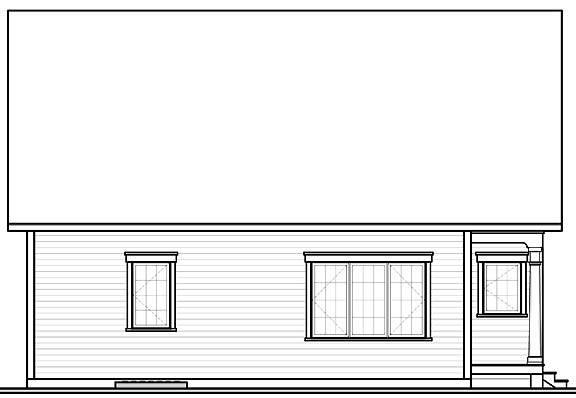 Rear image of Jackson House Plan
