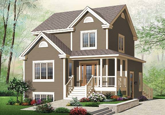 Front image of Country Charmer 6 House Plan