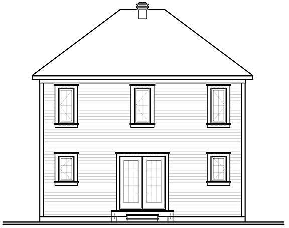 Rear Photo image of Duranel 4 House Plan