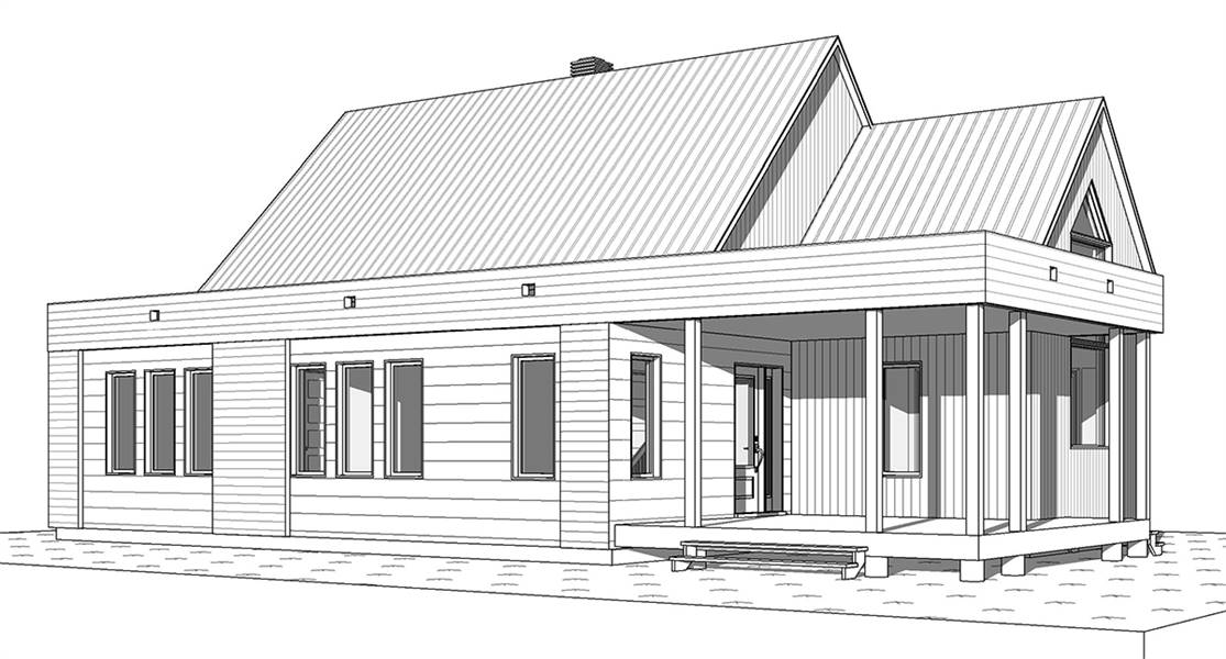 Front Elevation image of Bergen House Plan
