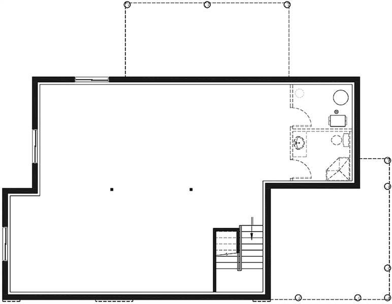 Basement image of Bergen House Plan