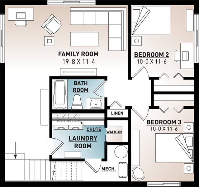 Basement image of Nordika House Plan