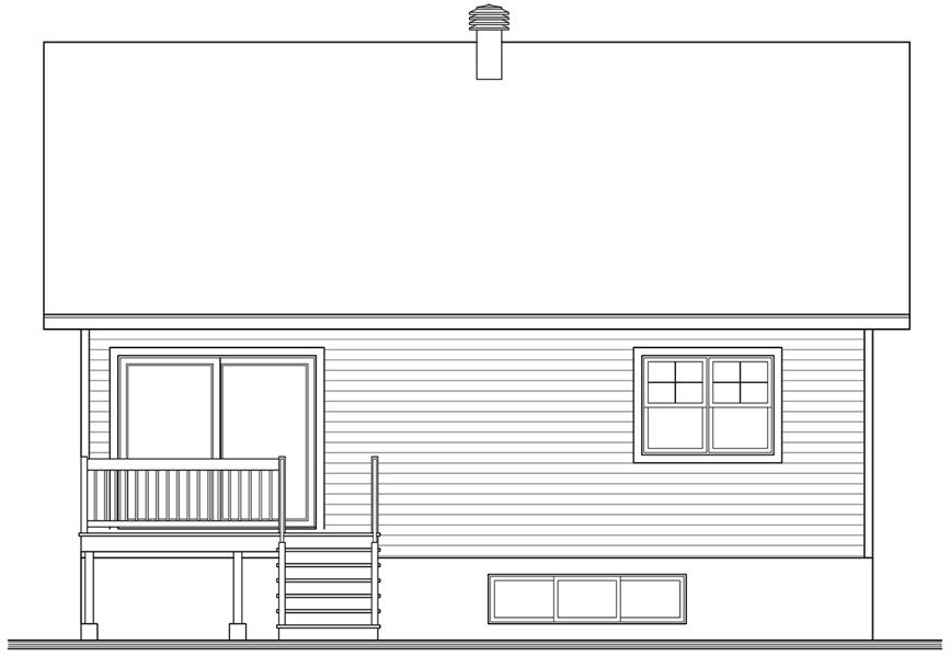Rear Elevation image of Nordika House Plan