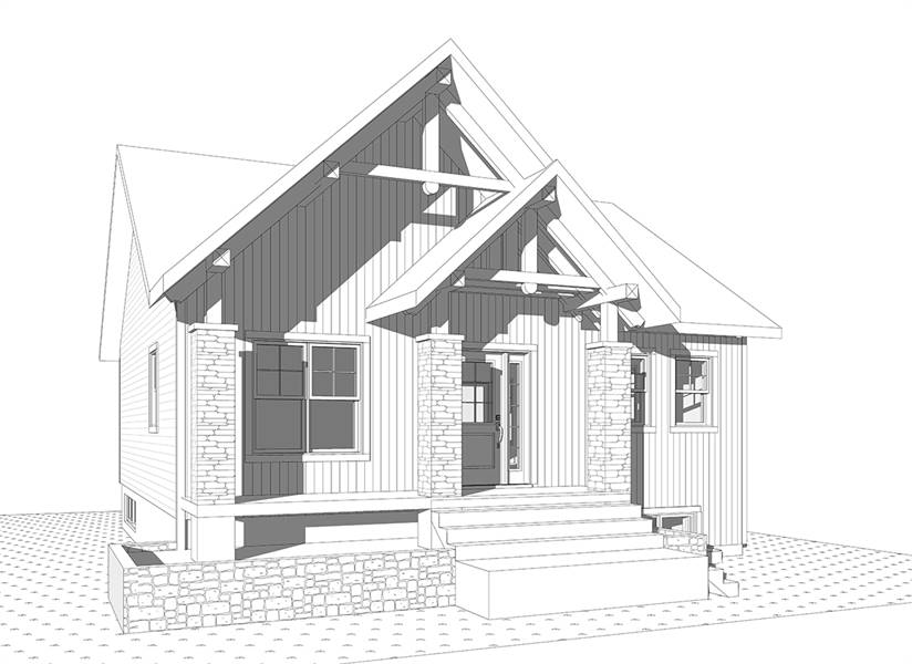 Front Elevation image of Nordika House Plan