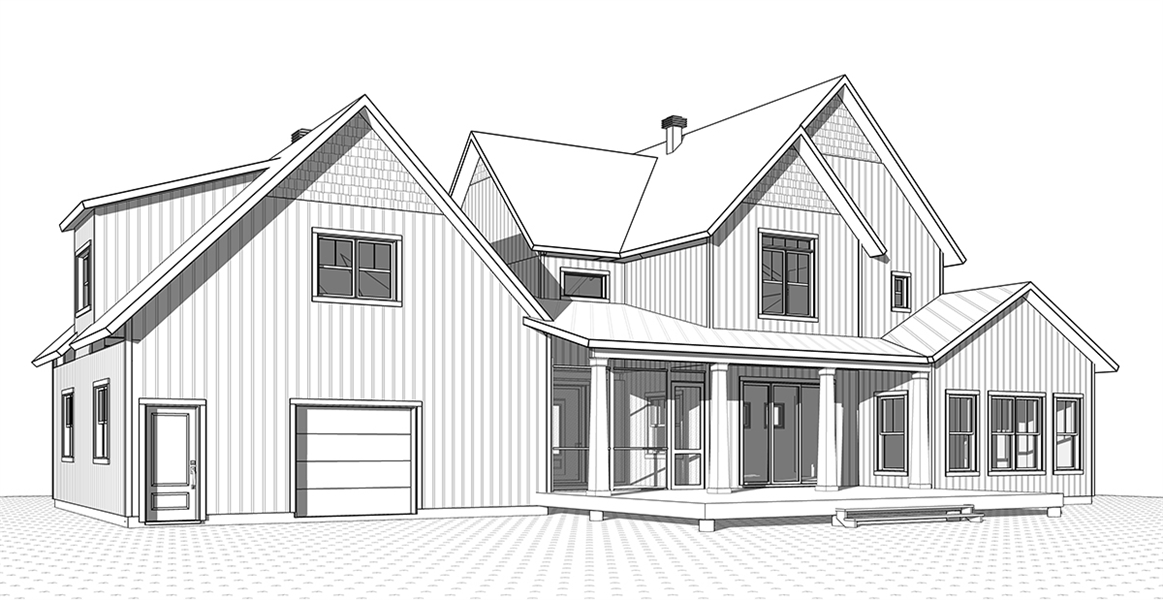 Rear Elevation image of Midwest 2 House Plan