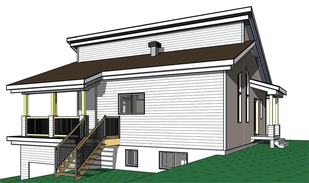 Rear Elevation image of Malbaie House Plan