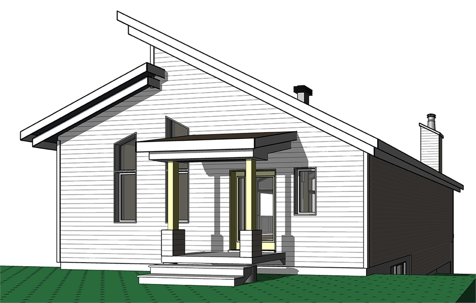 Front Elevation image of Malbaie House Plan