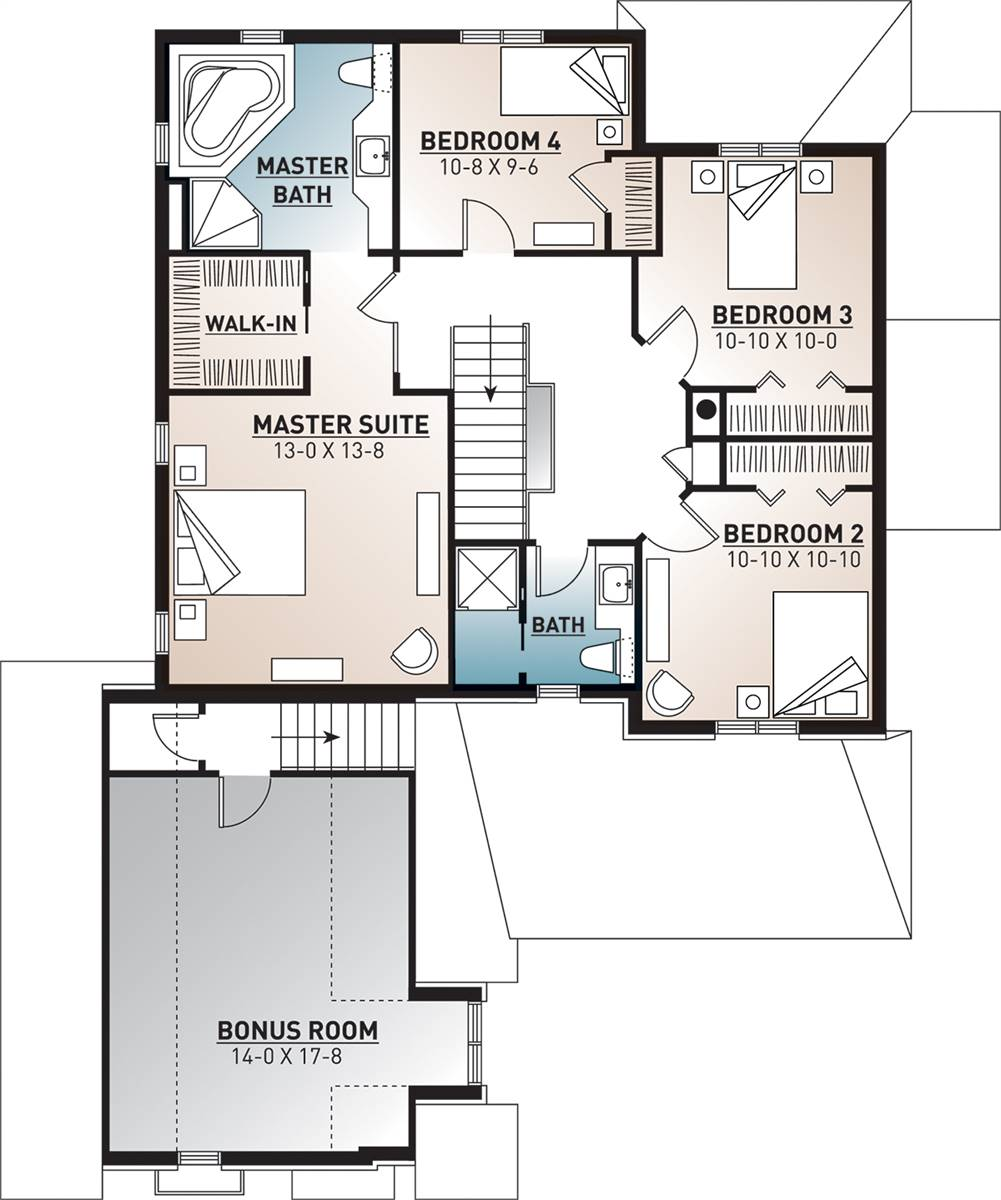 2nd Floor Plan image of Farrington House Plan